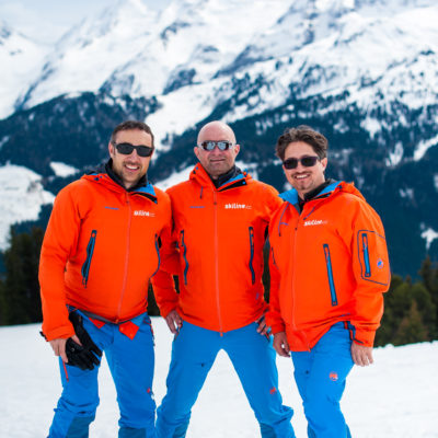 Daniel Wakounig, Michael Saringer und Gilberto Loacker Skiing with Skiline