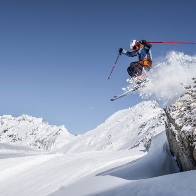 Skifahrer Bettmeralp Winter